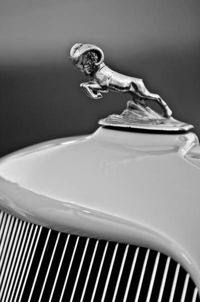 Photograph - 1933 Dodge Ram Hood Ornament 2 by Jill Reger
