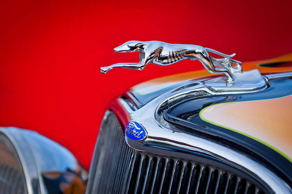 Vintage Hood Ornaments Photograph - 1933 Ford Hood Ornament by Jill Reger