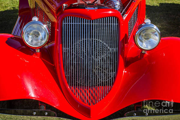 Photograph - 1933 Ford Vicky Automobile  Front End And Grill Color 3024.02 by M K Miller