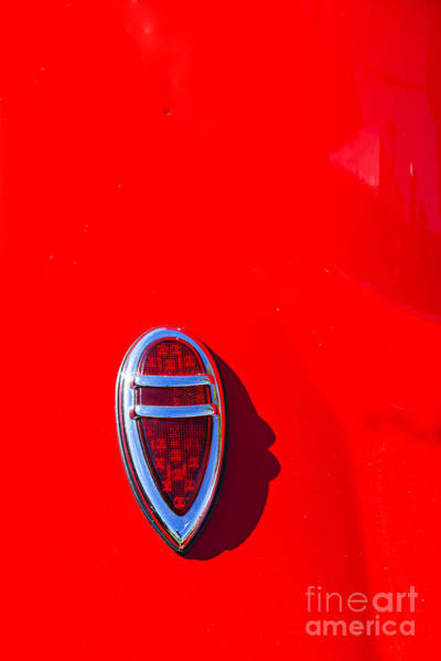 Photograph - 1933 Ford Vicky Automobile Tail Light In Color Red 3029.02 by M K Miller