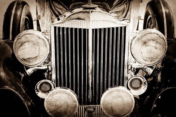 Convertible Photograph - 1933 Packard 12 Convertible Coupe Classic Car by Jill Reger