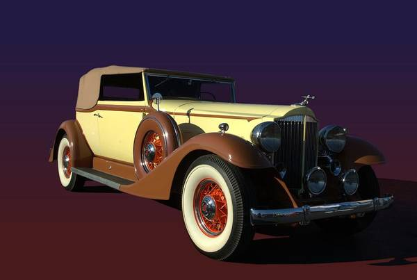 Photograph - 1933 Packard Super 8 1004 Victoria Convertible by Tim McCullough