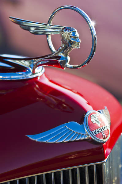 Car Part Photograph - 1933 Pontiac Hood Ornament 3 by Jill Reger