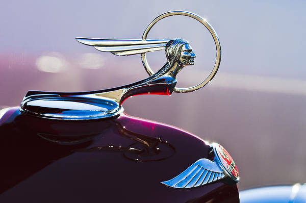 Vintage Hood Ornaments Photograph - 1933 Pontiac Hood Ornament by Jill Reger
