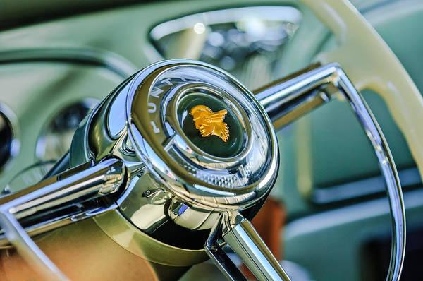 1933 Photograph - 1933 Pontiac Steering Wheel Emblem by Jill Reger