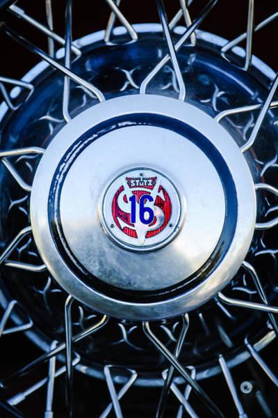 Photograph - 1933 Stutz Sv-16 Five-passenger Wheel Emblem by Jill Reger