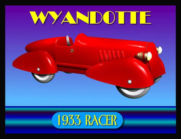 Wall Art - Digital Art - 1933 Wyandotte Racer by Stuart Swartz