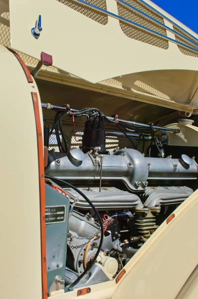 Photograph - 1934 Alfa Romeo 8c Zagato Engine by Jill Reger