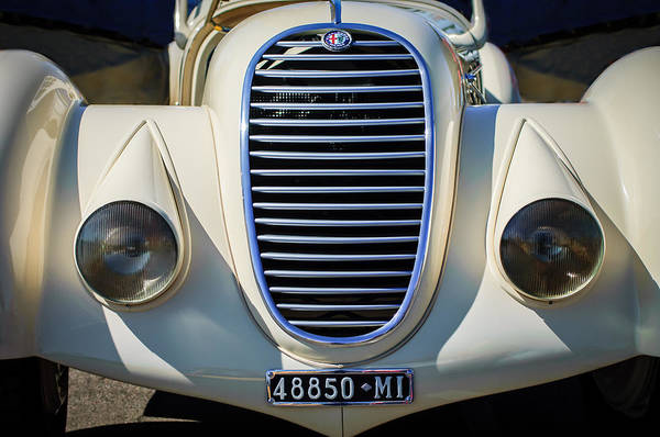 Photograph - 1934 Alfa Romeo 8c Zagato Grille -0071c by Jill Reger