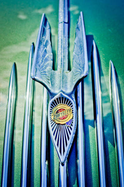 Vintage Hood Ornaments Photograph - 1934 Chrysler Airflow Hood Ornament 2 by Jill Reger