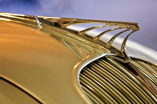 Photograph - 1934 Desoto Airflow Coupe Hood Ornament by Jill Reger