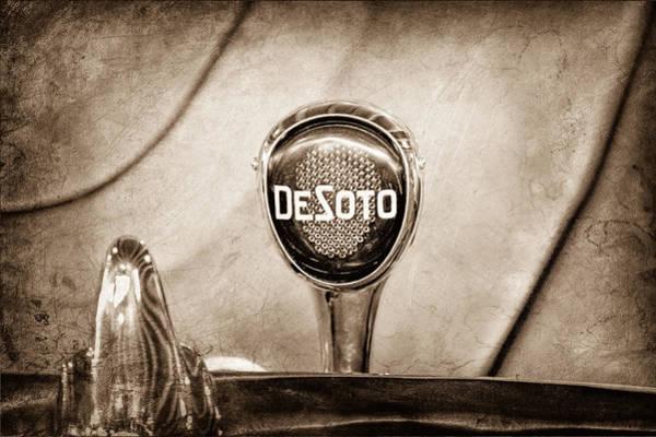 Photograph - 1934 Desoto Airflow Coupe Taillight Emblem by Jill Reger