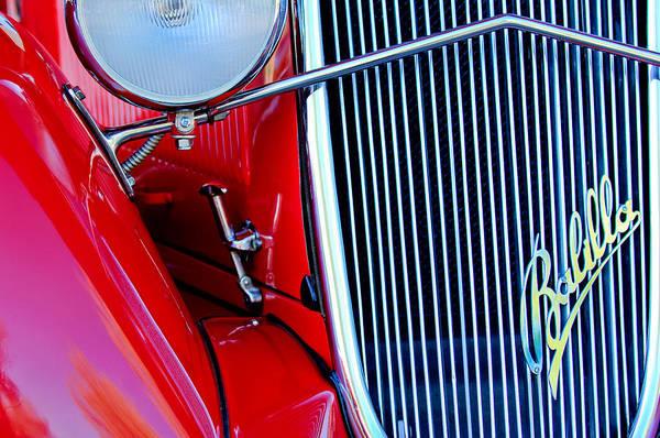 Photograph - 1934 Fiat Balilla Grille Emblem by Jill Reger