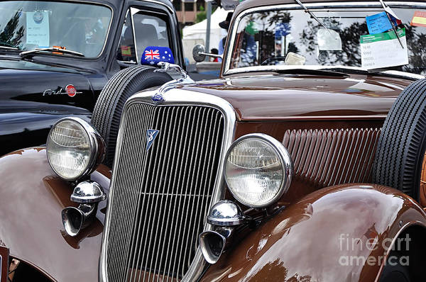 Wall Art - Photograph - 1934 Ford 6 Wheel Equip Front End by Kaye Menner