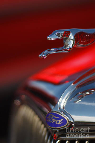 Photograph - 1934 Ford Coupe Hood Ornament With Ford Emblem by T Lowry Wilson