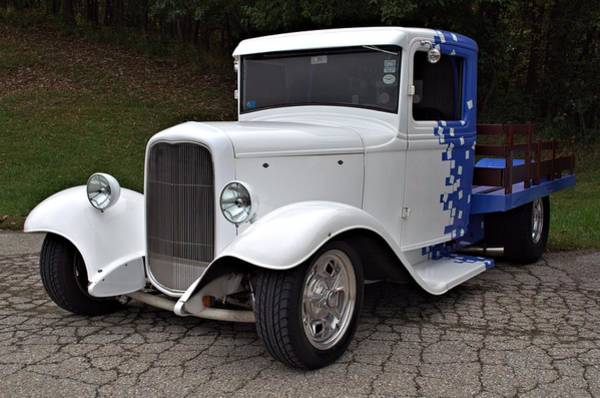 Photograph - 1934 Ford Hot Rod Stake Side Truck by Tim McCullough