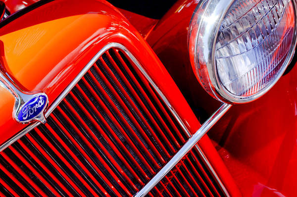 Photograph - 1934 Ford Pickup Truck Grille Emblem by Jill Reger