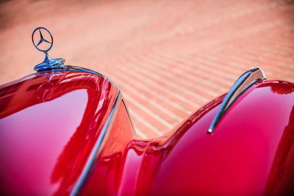 Photograph - 1934 Mercedes-benz 500k Tourer Hood Ornament -1109c by Jill Reger