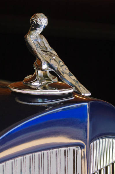 Hoodies Photograph - 1934 Packard Hood Ornament Jill Reger Photographer by Jill Reger