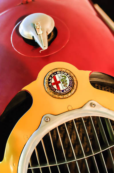 Photograph - 1935 Alfa Romeo 8c-35 Grille Emblem by Jill Reger