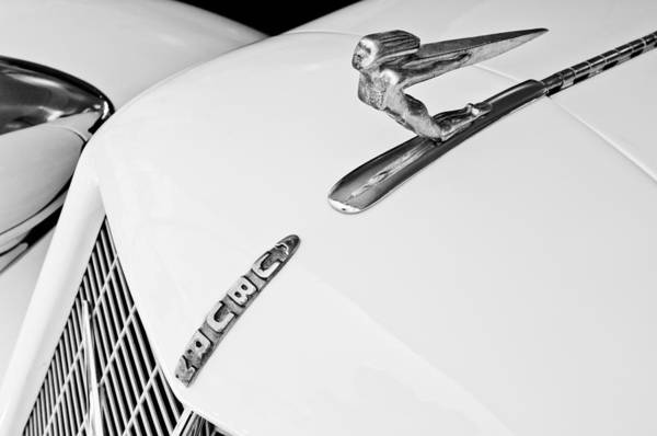 Photograph - 1935 Auburn Boattail Speedster Hood Ornament by Jill Reger