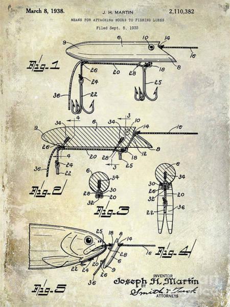 1935 Fishing Lure Patent Art Print