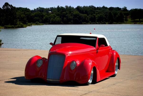 Photograph - 1935 Ford Cabriolet Hot Rod by Tim McCullough
