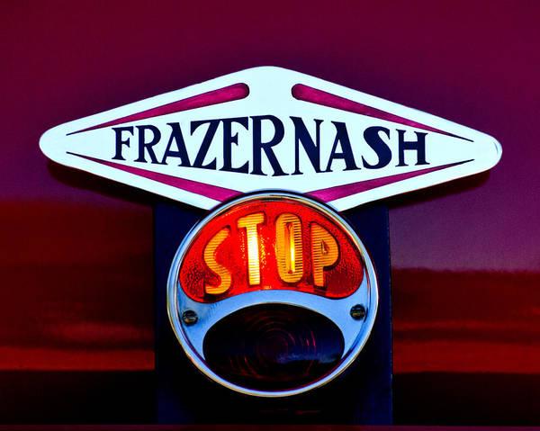 Photograph - 1935 Frazer-nash Taillight Stop Emblem by Jill Reger