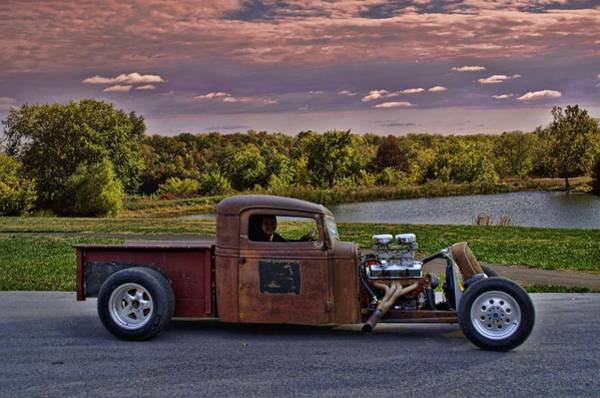 Photograph - 1935 International Pickup Rat Rod by Tim McCullough