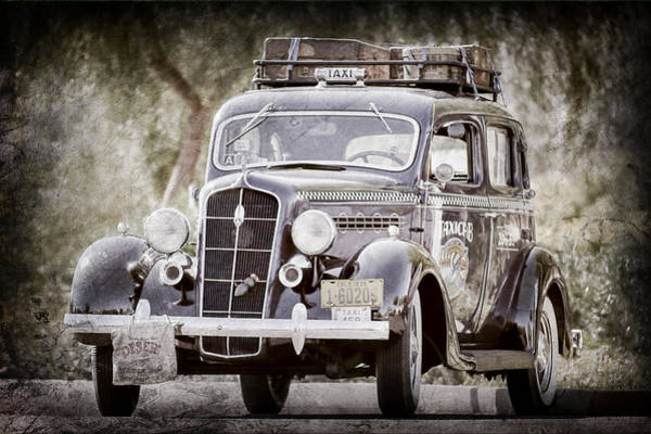Photograph - 1935 Plymouth Taxi Cab -568ac by Jill Reger
