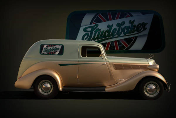 Photograph - 1935 Studebaker Sedan Delivery by Tim McCullough