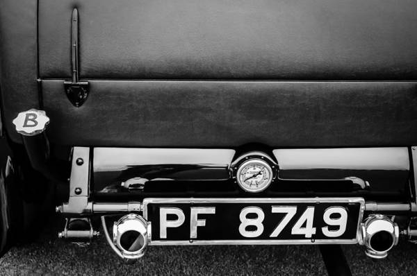 Photograph - 1936 Bugatti Type 57s Corsica Tourer License Plateq by Jill Reger