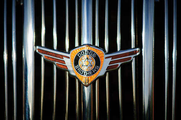 Photograph - 1936 Dodge Grille Emblem -0864c by Jill Reger
