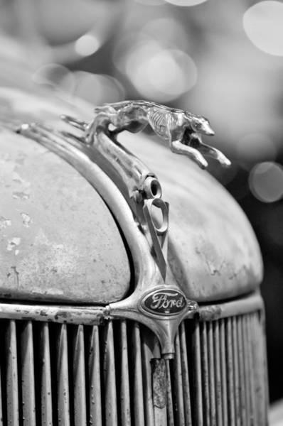 Cabriolet Photograph - 1936 Ford Cabriolet Hood Ornament - Emblem by Jill Reger