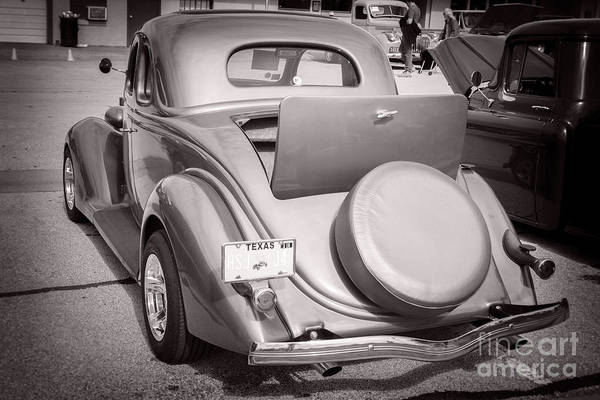 Photograph - 1936 Ford Roadster Classic Car Or Automobile Back End In Sepia  3119.01 by M K Miller