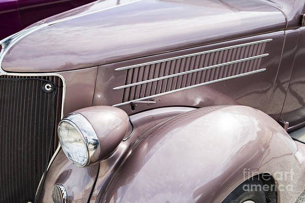 Photograph - 1936 Ford Roadster Classic Car Or Automobile Front Fender In Color  3118. by M K Miller