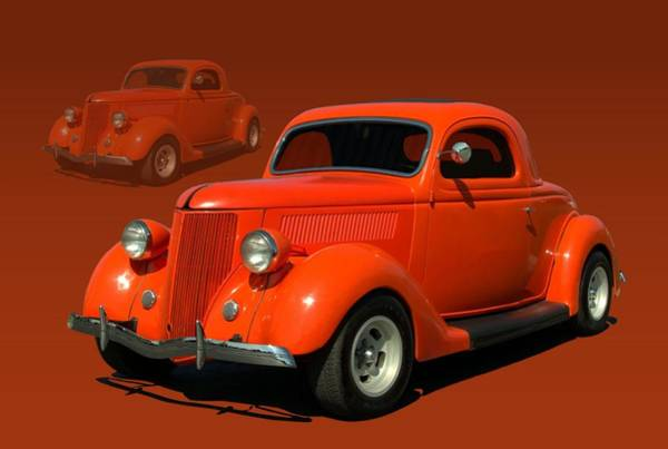 Photograph - 1936 Ford Coupe Hot Rod by Tim McCullough
