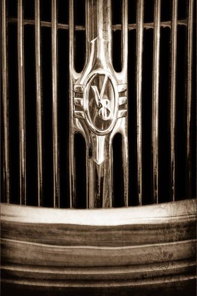 Phaeton Photograph - 1936 Ford Phaeton Grille Emblem by Jill Reger