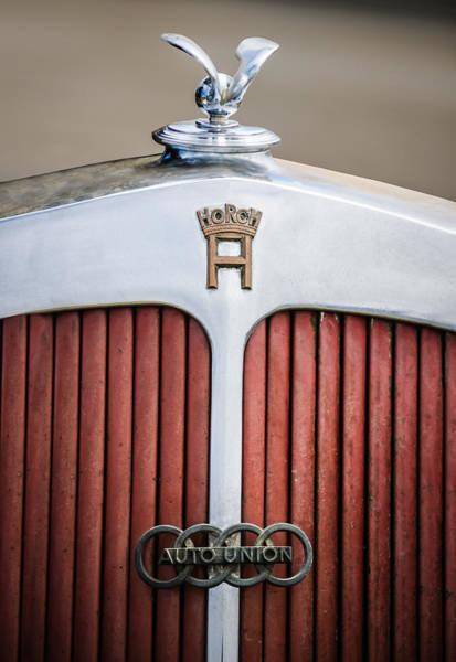 Cabriolet Photograph - 1936 Horch 853 Cabriolet Grille Emblem - Hood Ornament - 0375c by Jill Reger