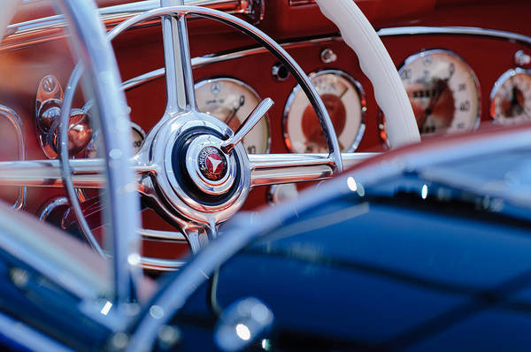 Photograph - 1936 Mercedes-benz 540 Special Roadster Steering Wheel by Jill Reger