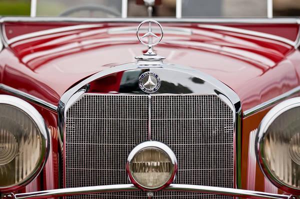 Wall Art - Photograph - 1936 Mercedes-benz 540k Mayfair Special Roadster Grille by Jill Reger