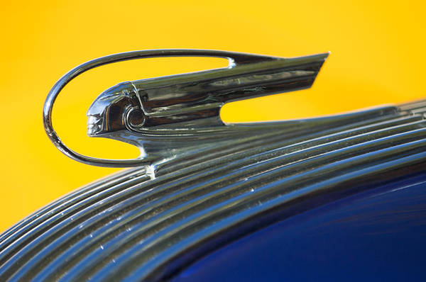 Photograph - 1936 Pontiac Hood Ornament 2 by Jill Reger