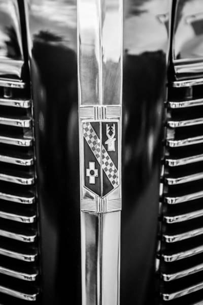 Photograph - 1937 Buick Model 91f Formal Sedan Grille Emblem -0783bw by Jill Reger