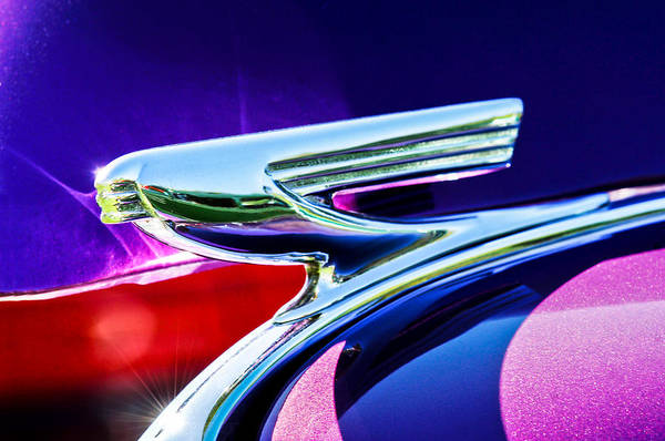 Photograph - 1937 Chevrolet 2 Door Sedan Hood Ornament -0834c by Jill Reger