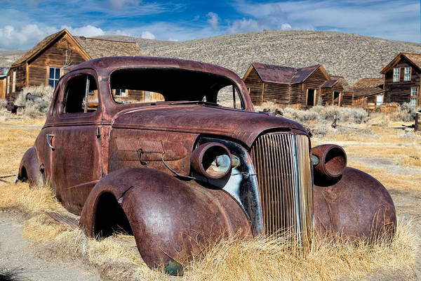 Bodie Ghost Town Wall Art - Photograph - 1937 Chevrolet Coupe At Bodie by Kathleen Bishop
