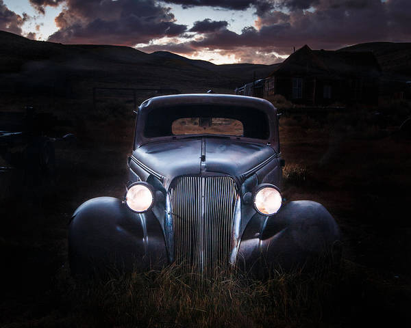Bodie Ghost Town Wall Art - Photograph - 1937 Chevy At Dusk by Jeff Sullivan