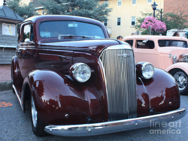 Canon Rebel Photograph - 1937 Chevy Two Door Sedan Front And Side View by John Telfer