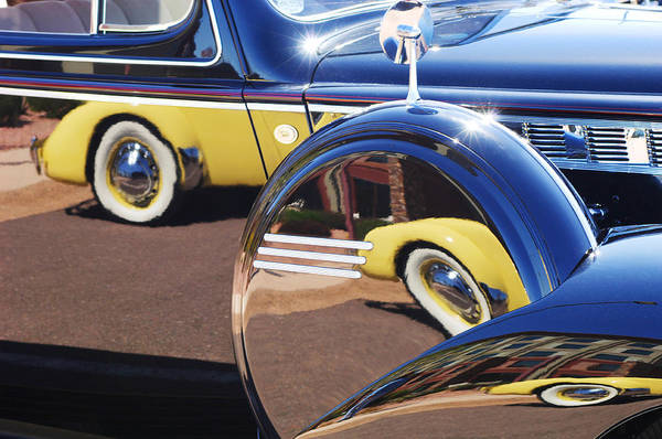 Photograph - 1937 Cord 812 Phaeton Reflected Into Packard by Jill Reger