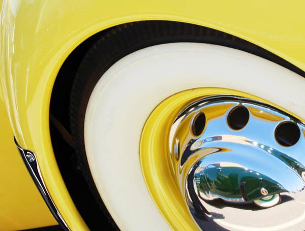 Wall Art - Photograph - 1937 Cord 812 Phaeton Wheel Rim Reflecting Cadillac by Jill Reger