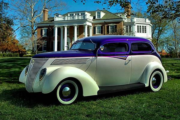 Photograph - 1937 Ford Custom Sedan Hot Rod by Tim McCullough